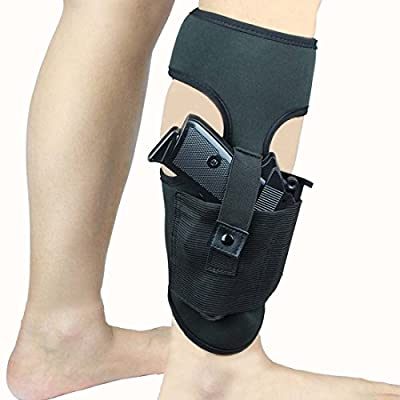 Ankle Holster For Concealed Carry Anti-Slip Neoprene Leg Gun Holster fit Glock 43 27 19 26, Ruger LCP, S&W Bodyguard 380, M&P Shield, Sig Sauer, p238, Revolver, 38 Special, 9mm J Frame Pistol