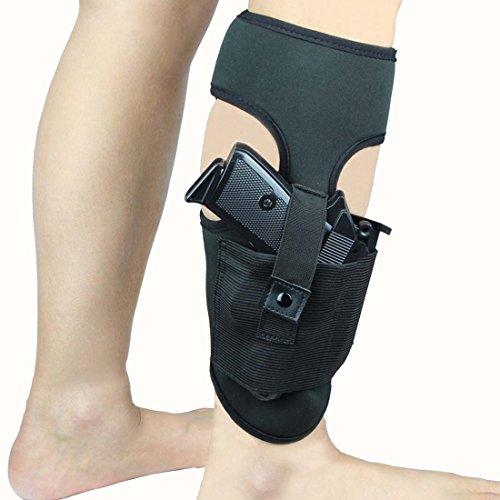 Ankle Holster For Concealed Carry Anti-Slip Neoprene Leg Gun Holster fit Glock 43 27 19 26, Ruger LCP, S&W Bodyguard 380, M&P Shield, Sig Sauer, p238, Revolver, 38 Special, 9mm J Frame Pistol -