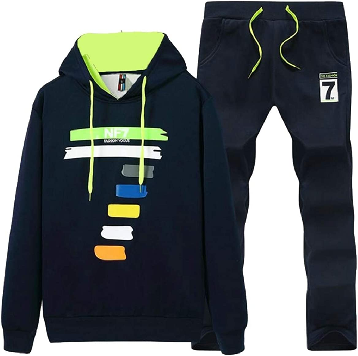 pujingge Mens Pullover Warm Fleece Hoodie Sweatshirt Jogger Suit Tracksuit