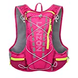 LANZON 5L Hydration Pack (NO Bladder), Marathon Running Vest, Hiking Cycling Backpack - Red