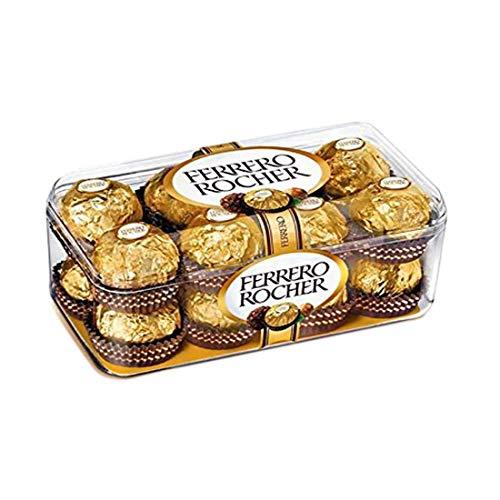 Ferrero Rocher 16 Piece - Crunchy Ferrero Rocher Chocolate Box, 16 pcs each - 3 Box