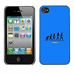 Shell-Star ( Cool Funny Ivolution Evolution Technology ) Fundas Cover Cubre Hard Case Cover para Apple iPhone 4 / 4S