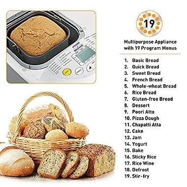KENT - 16010 Atta and Bread Maker 550-Watt (Steel Grey) 10