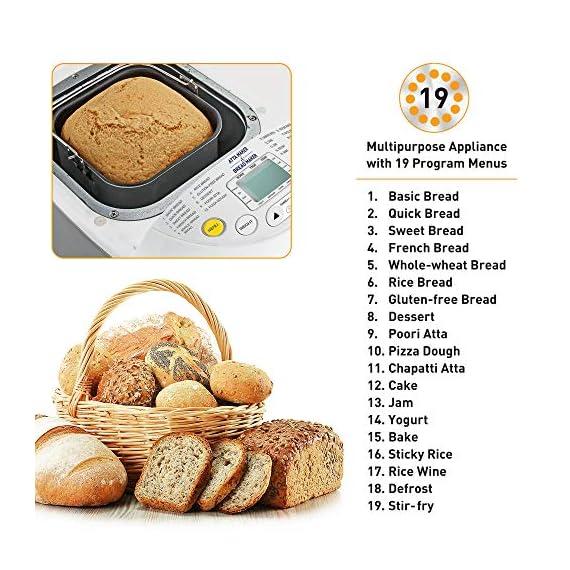 KENT - 16010 Atta and Bread Maker 550-Watt (Steel Grey) 4
