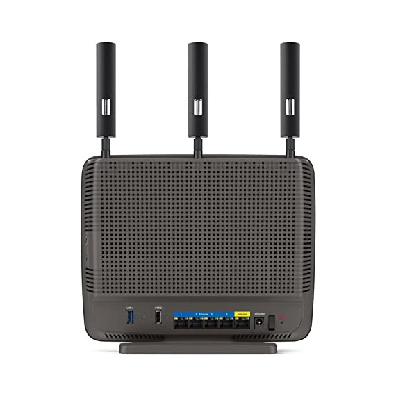 Linksys AC3200 Tri-Band Smart Wi-Fi Router with Gigabit and USB, Designed for Device-Heavy Homes, Smart Wi-Fi App Enabled to Control Your Network from Anywhere (EA9200) 4 Advanced Tri-band Wi-Fi technology Up to 3.2 Gbps wireless speed 1 GHz dual-core CPU and 3 integrated co-processors deliver 2.96GHz of penta-core processing power