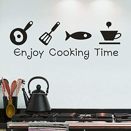 (littlepig Cartoon Enjoy Cooking time Kitchen Wall Sticker PVC Living Room Kitchen Background Home Decoration Mural Art Decals Stickers N30)