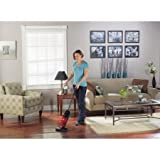 eureka quick up bagless stick vacuum with motorized brush roll 169j red