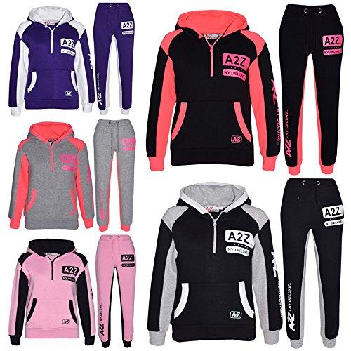A2Z 4 Kids® Kids Jogging Suit Boys Girls Designers Tracksuit Zipped Top & Bottom 5-13 Years