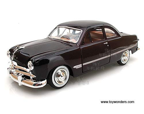 1949 Ford Coupe, Burgundy - Motormax Premium American 73213 - 1/24 Scale Diecast Model - Coupe Diecast