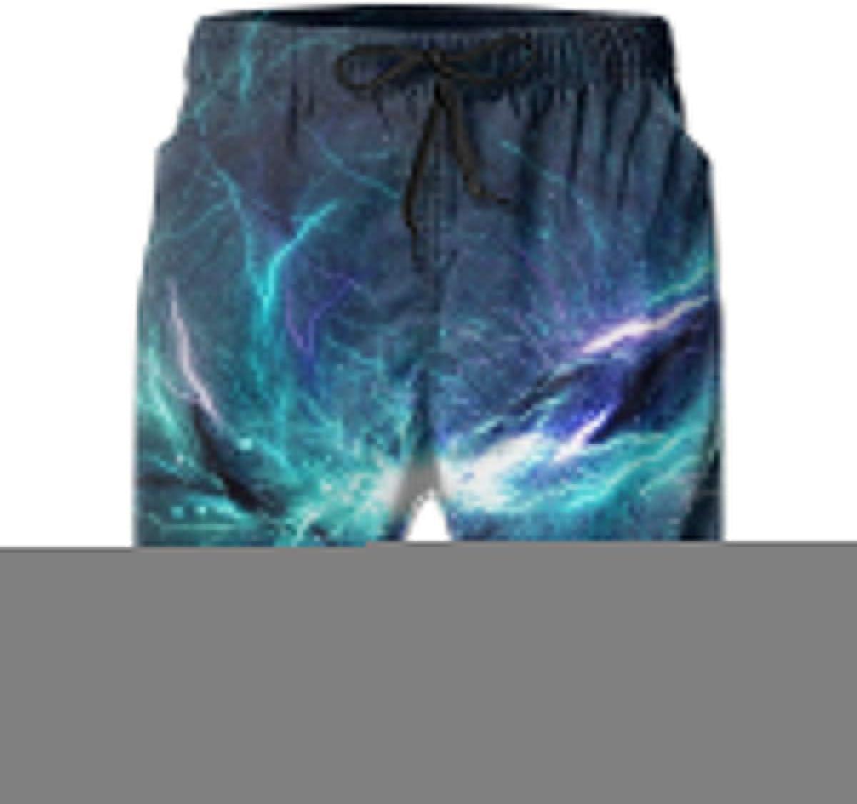 Blue Galaxy YongColer Mens Swim Trunks Quick Dry Beach Swim Shorts