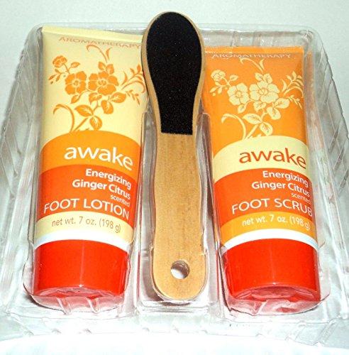 Awake Energizing Ginger Citrus Aromatherapy Foot Care Set 3 Pc.