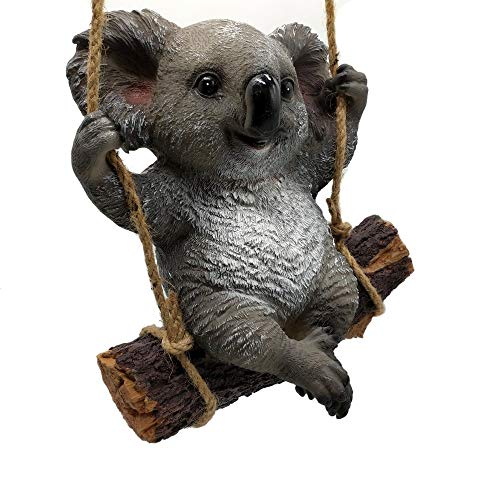 KERDITOO Koala Garden Statue Ornaments 9.84 Inches Polyresin Animal Outdoor/Indoor_Living Sculpture Decorations Natural color (Statue Decoration)
