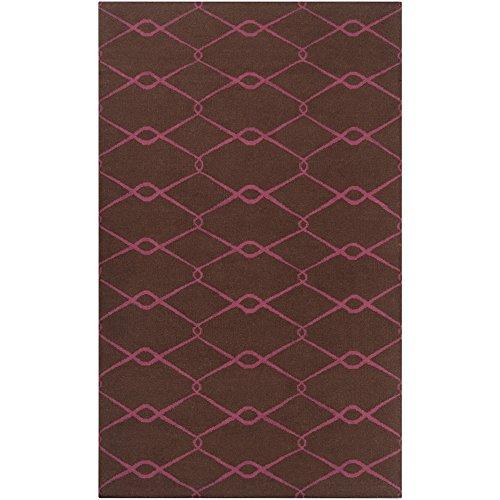 Surya Jill Rosenwald Fallon FAL-1051 Transitional Hand Woven 100% Wool Dark Chocolate 3'6