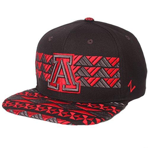 ZHATS NCAA Arizona Wildcats Men's Kolohe Snapback Hat, Adjustable, Black/Team Color