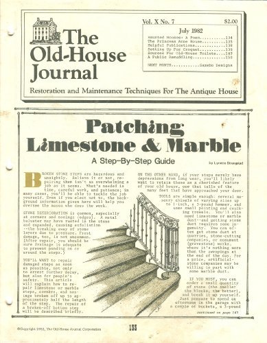 The Old-House Journal: Vol. X, No. 7, July 1982