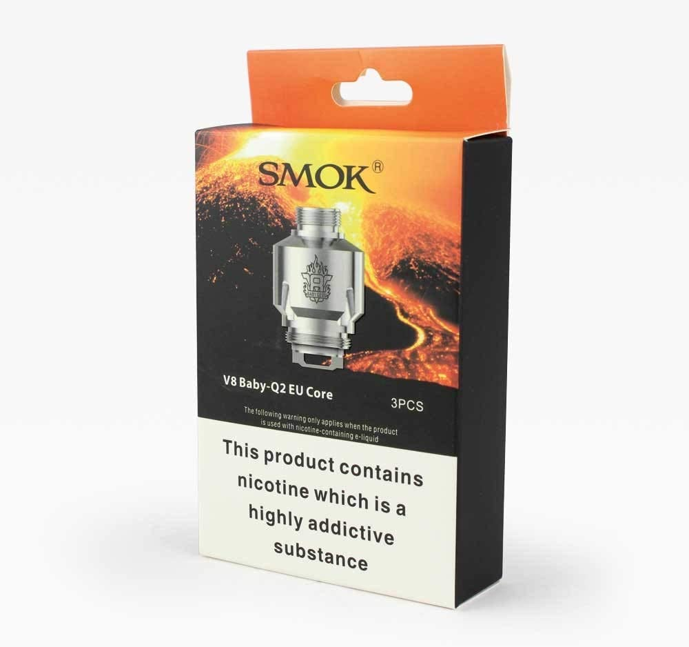 Smok Tfv8 Baby V8 Q2 Eu Core 0 4 Ohm Only Compatible With The Eu Tpd Smok Big Baby Beast Pack Of 3 No Nicotine Or Tobacco Amazon Co Uk Health Personal Care