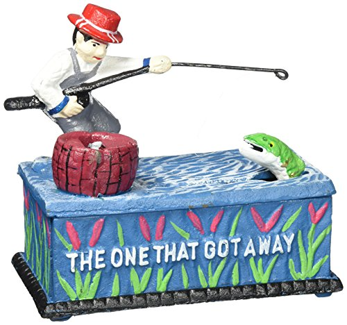 (Design Toscano The Fisherman: The One that Got Away Collectors Mechanical Coin Bank)