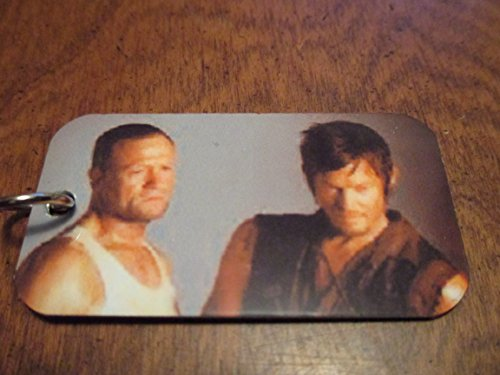 The Walking Dead Merle & Daryl Dixon Print on Dog Tag with Chain 'Pat Payton 'Approved Dealer