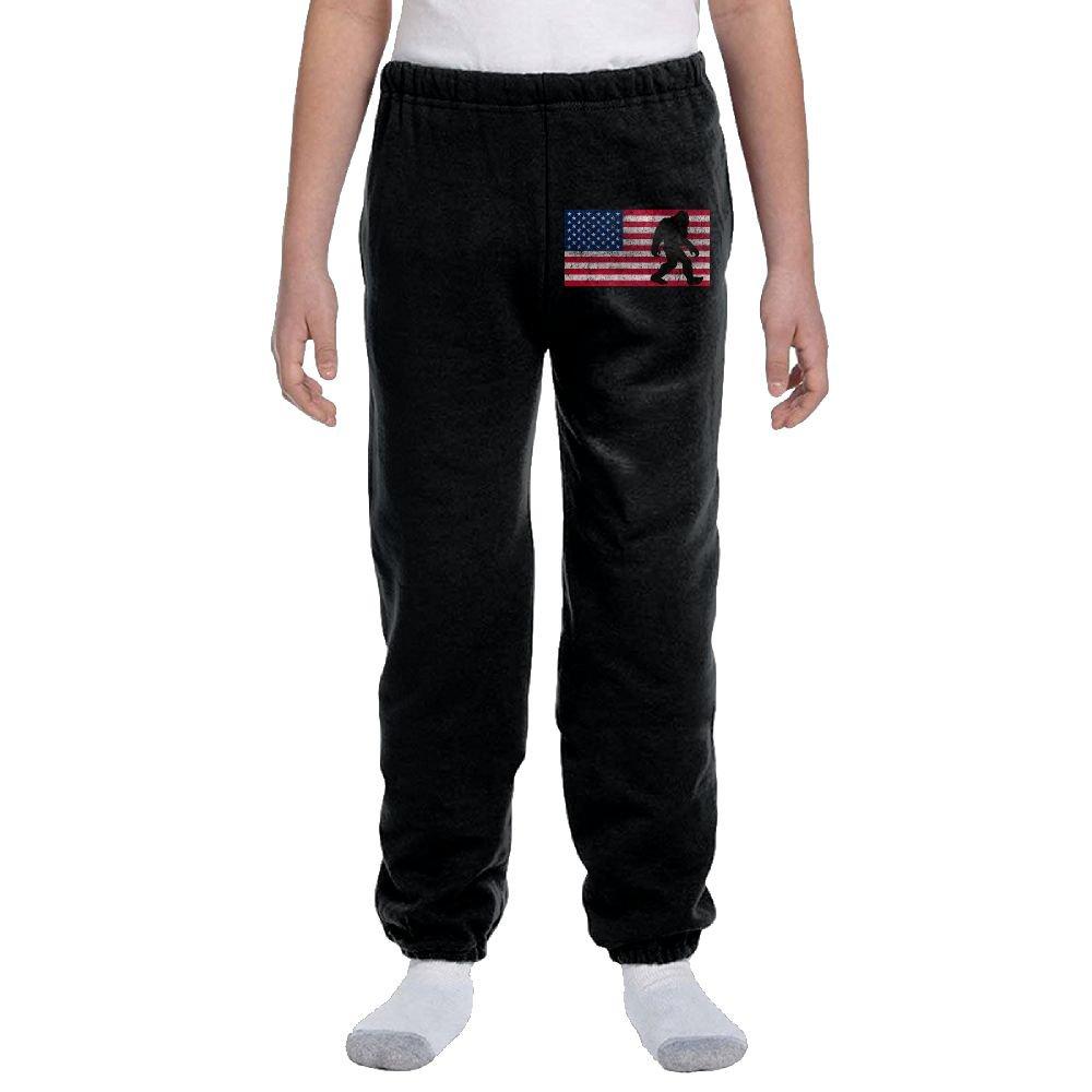 LuckStarKID American Flag Bigfoot Fashion Durable Unisex Sweatpants For Callan by LuckStarKID