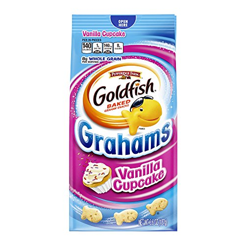 Pepperidge Farm Goldfish Grahams Vanilla Cupcake Graham Snacks (Birthday Cake Goldfish)