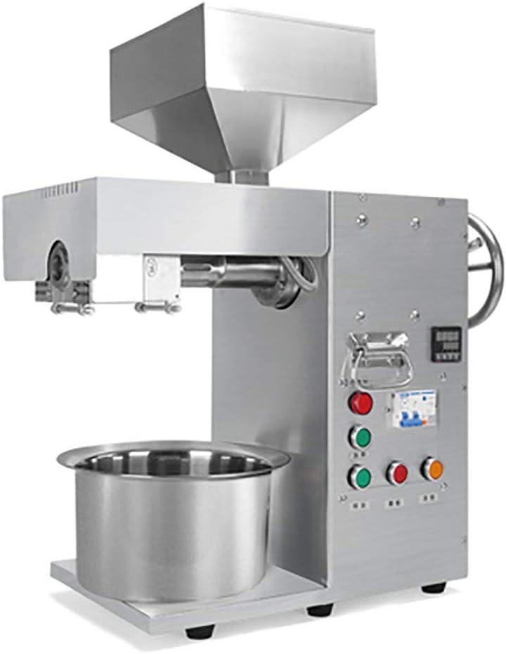 BMGIANT máquina de prensa automática de aceite industrial de acero inoxidable prensado en frío, aceite de semilla de oliva, 3000 W, máquina extractora de aceite de girasol comercial para el hogar, 15 –