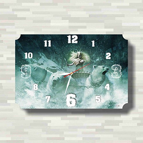 The Chronicles of Narnia 17'' x 11'' Handmade unique Wall Clock - Get unique décor for home or office – Best gift ideas for kids, friends, parents - White Witch Narnia Costume Kids