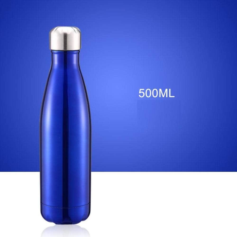 CCTYJ Taza de café portátil de la Botella de Agua del Aislamiento del Frasco de vacío del Acero Inoxidable de la Botella de los Deportes al Aire Libre