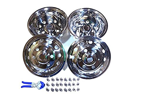 A+ 51016 2014 - 2016 Ford Transit Dually 6 Lugs Stainless Wheel Simulator, Pack of 4 (Simulators For Women)