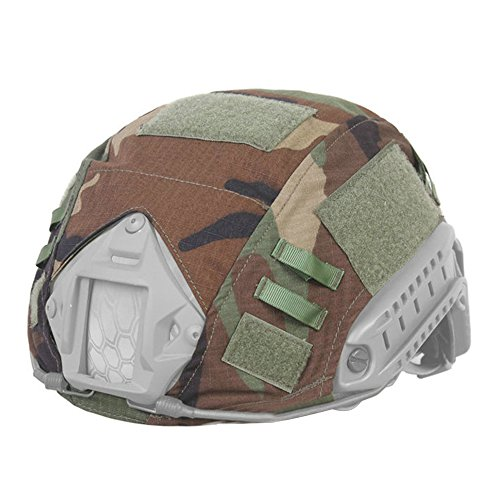 - EMERSONGEAR Tactical Helmet Cover Camouflage Combat Helmet Accessories for Airsoft Paintball Gear Fast Helmet Cover BJ/PJ/MH (Woodland)