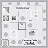 Creative Grids Curvy Log Cabin Trim Tool Quilting Ruler Template for 8'' Finished Blocks CGRJAW5