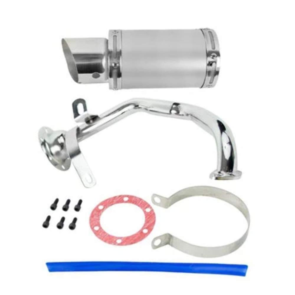 SILVER by VMC CHINESE PARTS Exhaust System//Muffler for GY6 150cc Scooter