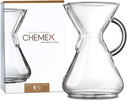 CHEMEX Pour-Over Glass Coffeemaker, 10-Cup