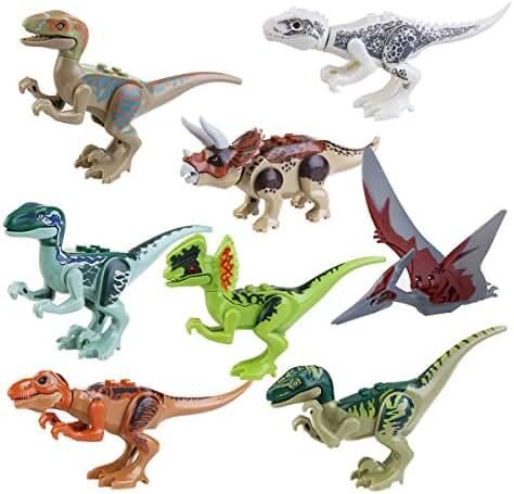 Pixnor Dinosaur Building Blocks (8 Pack)