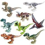 BESTOYARD Dinosaur Figure Building Blocks Mini Dinosaur Toys Dinosaur Blocks Playset 8 pcs