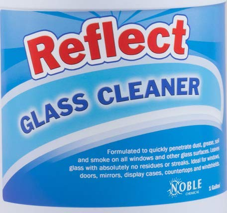 Noble Chemical Reflect 1 Gallon / 128 oz.Glass/Multi-Surface Spray Cleaner - Pack of 4