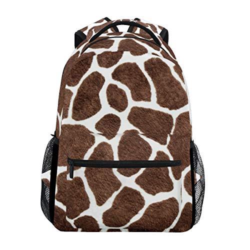 JOYPRINT Backpack Animal Giraffe Print Pattern Shoulder Bag Daypack Travel Hiking for Boys Girls Men -
