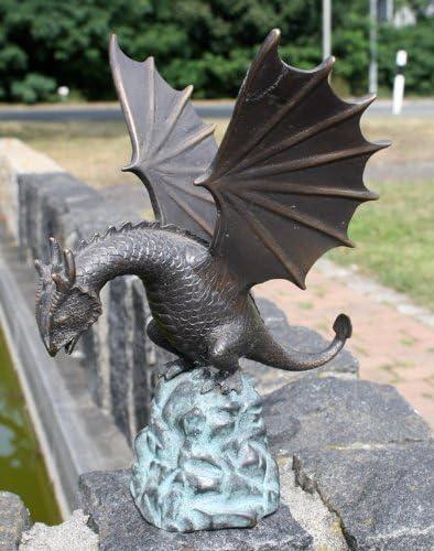 Dragón sobre un bloque de roca como Gárgola: Amazon.es: Jardín