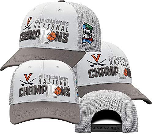 Elite Fan Shop UVA Virginia Cavaliers National Basketball Championship Hat 2019 Gray - Adjustable