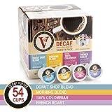 Decaf Coffee Variety Pack for K-Cup Keurig 2.0 Brewers, 54 Count Victor Allen's Coffee Medium Roast Single Serve Coffee Pods