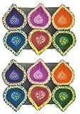 JERN Traditional Handmade Decorative Dipawali / Diwali Diya (3 Color Pack Of 12)