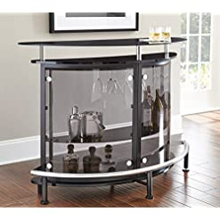 Home Bar Cabinetry Steve Silver Company Ariana Bar Table home bar cabinetry