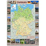 24x36-3719 GERMANY MAP POSTER