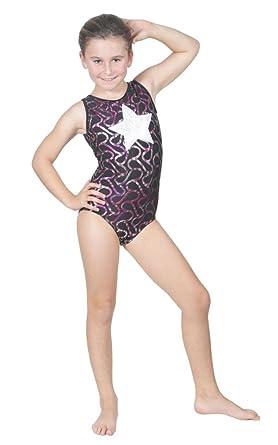 d45d62fe06 Delicate Illusions Sleeveless Tank Fitness Gymnastics Fitness Girls Foil  Metallic Leotard L (8-9