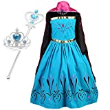 iYang Vogue Elsa Coronation Dress Costume Tiara and Magic Wand Set
