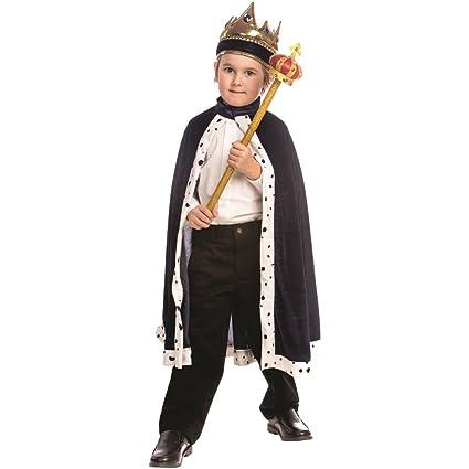 Dress up America - Traje de Rey para niños, Color Azul ...