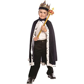 Dress up America - Traje de Rey para niños, Color Azul, Talla ...