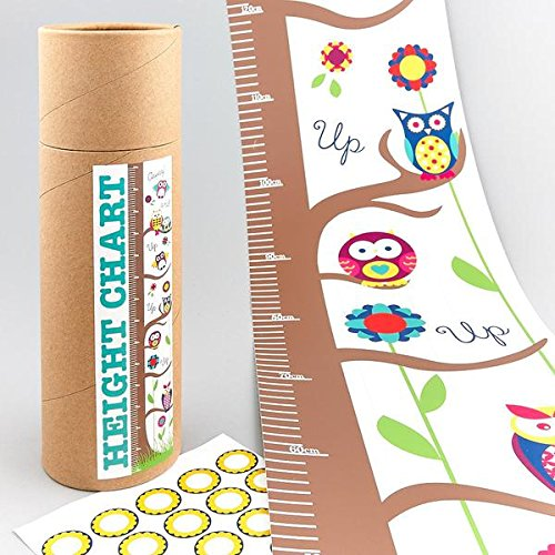 F/ROCK HEIGHT CHART OWL WITH STICKERS Floss & Rock 32P2030