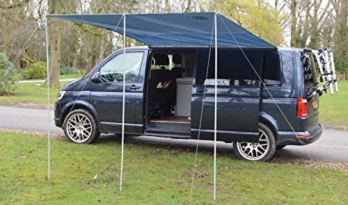 Wild Earth - Toldo para caravana VW de 300 cm x 240 cm, de color gris medio: Amazon.es: Coche y moto