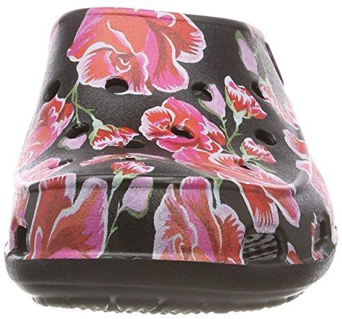 Punta Black Fsailgrphclgw Chiusa Rose Crocs Sandali Multi Multicolore Donna dE8wqxwF