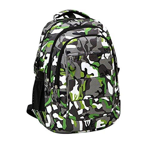 - Dreamyth Boys Girls Men Women Nylon Climb Bag Shoulder Bookbags School Satchel Leisure Camouflage Travel Backpack (Camouflage Green)
